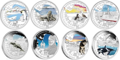 Australian Antarctic Territory Silver Proof Coins (Perth Mint images)
