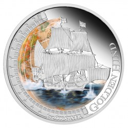 Golden Hind Silver Proof Coin (Perth Mint image)