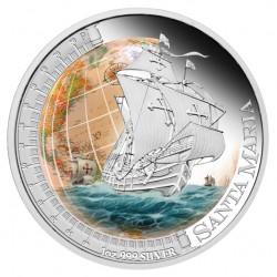Santa Maria Silver Proof Coin (Perth Mint image)