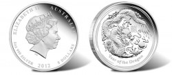 Year of the Dragon 5 Oz Silver Proof Coin