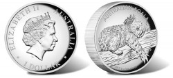 Australian Koala High Relief Silver Coin