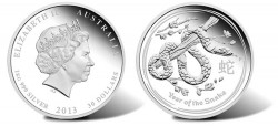 Australian 2013 Year of the Snake Silver Proof Coin